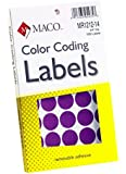 MACO Purple Round Color Coding Labels, 3/4 Inches in Diameter, 1000 Per Box (MR1212-14)