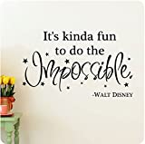 38 It's Kinda Fun To Do The Impossible Walt Disney Wall Decal Sticker Art Mural Home Décor Quote Lettering