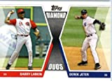2011 Topps Diamond Duos Baseball Card #DD-LJ Barry Larkin Cincinnati Reds &amp; Derek Jeter (New York Yankees)
