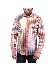 Tag & Trend Men's Slim Fit Casual And Party Wear FIRE BRICK RED Shirt By TRADIX INNOVATIONS