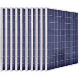 ECO-WORTHY USA Stock 1KW 10pcs 100 Watt 12v Solar Panel Solar Module for Home System Use Christmas Gift