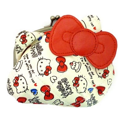 Pouches ( wristlet ) Sanrio character toy store / [Red] Hello Kitty? s quilting.'