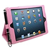 Snugg iPad Mini & Mini 2 Case - Smart Cover with Flip Stand & Lifetime Guarantee (Candy Pink Leather) for Apple iPad Mini & Mini 2 with Retina