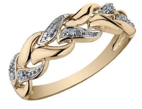Diamond Ring in 10K Yellow Gold, Size 8.5