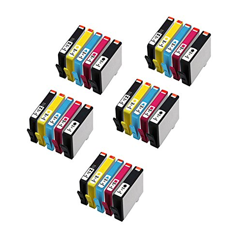 Inktoner 25 Pack Remanufactured Hp564Xl Ink For Hp Deskjet 3070A 3520 3521 3522 With Chip
