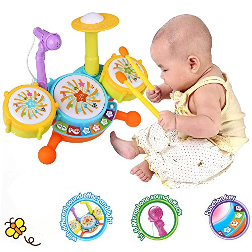 viment funny baby toy drum set musical instrument toy playset for kids toddlers toys games toys. Black Bedroom Furniture Sets. Home Design Ideas