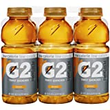 Gatorade G2 Sports Drink, Orange, Low Calorie, 20-Ounce Bottles (Pack of 24)