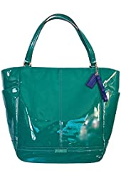 Coach Purse Leather Park Patent NS Tote Handbag Bag Bright Jade