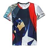 Pretty321 Men Women 3D Hip Hop Trend Graffiti Boy Unisex Summer T-shirt