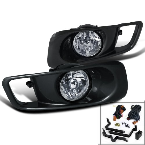 Spec-D Tuning LF-CV99OEM Honda Civic Ex Dx Lx Clear Oem Style Fog Lights, Switch, Relay (Honda Civic Ex 2000 Grills compare prices)