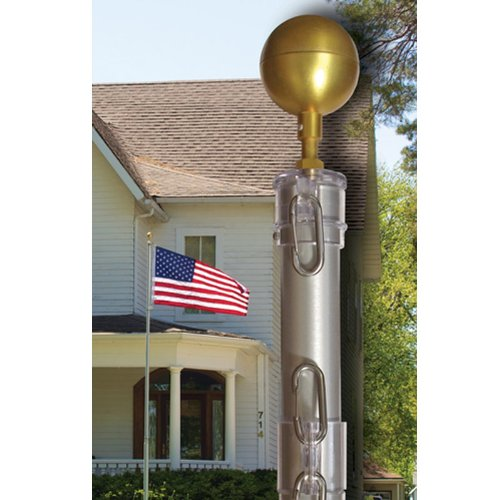 Telescoping Flagpole, Ground Set Kit, 25 Ft. (25 Ft. X 3 In. X 1-3/4 In.)