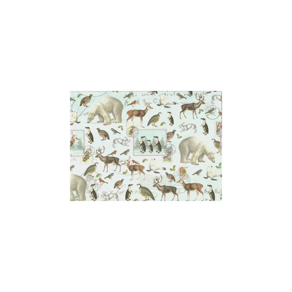 Winter Animals Christmas Gift Wrap Paper