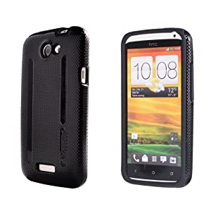 Megix Technology Double Layer Armor Series Case with Screen Protector for HTC ONE X - Retail Packaging - Black/Black