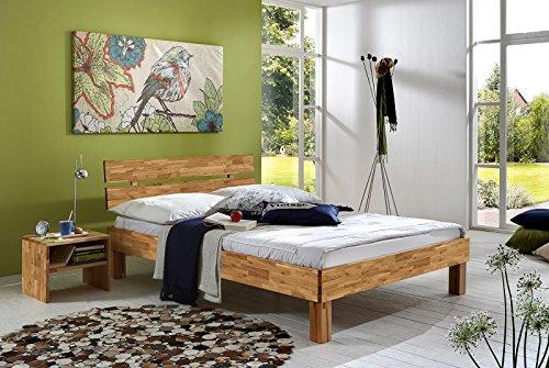 SAM-Massiv-Holzbett-Julia-in-Wildeiche-gelt-140-x-200-cm-Bett-mit-geteiltem-Kopfteil-natrliche-Maserung-massive-widerstandsfhige-Oberflche-in-warmem-Braunton