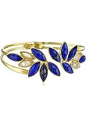 Coralia Leets Jewelry Design Lapis Leaf Bangle Bracelet