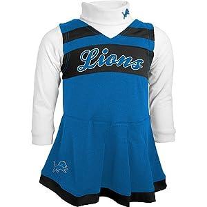 NFL Detroit Lions Girls Cheerleader Jumper & Turtleneck Set by NFL-Kids