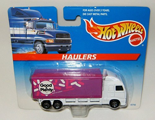 hot-wheels-haulers-1996-pink-white-good-plenty-collectible-car-164-scale-by-hot-wheels
