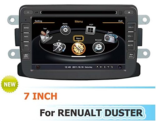 Car Dvd Player Navigation System For Renault Duster With Steering Wheel Control/3D Navigation Dvd Tv Usb Sd Ipod Bluetooth 3G/Wifi/20 Disc Cdc/ Dvd Recording/ Phonebook / Game (Original Factory Pannel Design,Free Map)
