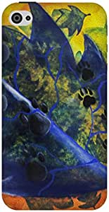 The Racoon Lean For Dog Lovers hard plastic printed back case / cover for Apple Iphone 4/4s
