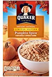 Quaker Pumpkin Spice Instant Oatmeal ~ Limited Edition 8 Count Box - 1 Box