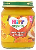 HiPP Organic Stage 1 From 4 Months Sweet Squash and Chicken 6 x 125 g (Pack of 2, Total 12 Pots)