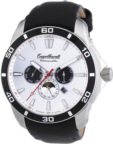 Engelhardt - 387722529017 - Montre Homme - Automatique Analogique - Bracelet Cuir Noir