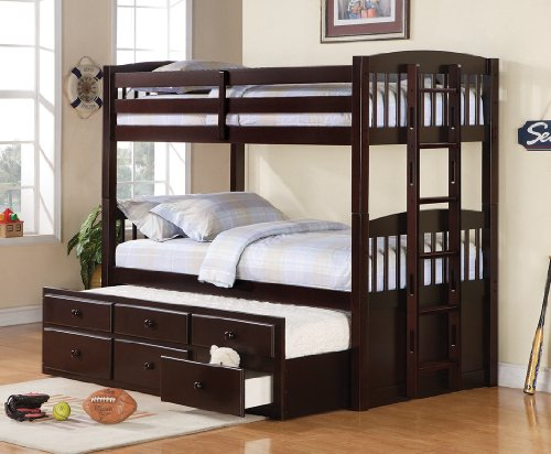 Fresh Coaster Logan Twin Twin Bunk Bed with Underbed Storage