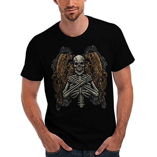 Wellcoda | Monster Skeleton Afterlife Curse Mens NEW T-Shirt Black S-5XL