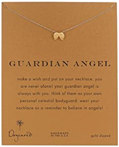"""Dogeared """"Reminders"""" Guardian Angel Wing Gold Charm Necklace, 18"""""""