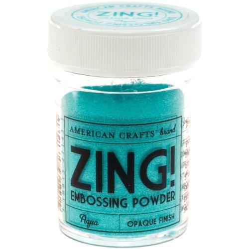 Zing opaque embossing powder 1 ounce aqua arts for American crafts zap embossing heat gun