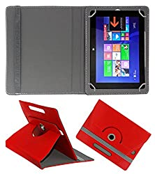 ACM ROTATING 360° LEATHER FLIP CASE FOR SWIPE ULTIMATE TABLET TABLET STAND COVER HOLDER RED