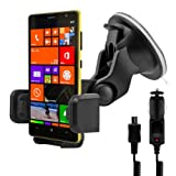 Car mount for Nokia Lumia 1320 + charger - Mobile phone fits in the mount with case or cover!