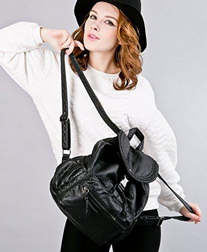 Greeniris zaino donna moda vera pelle zaino della scuola for Scuola della moda