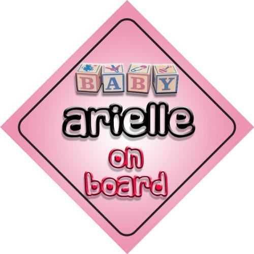 Arielle-on board baby Girl auto a forma di cartello regalo per bambini e neonati