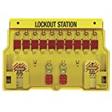Master Lock 10-Pack Lockout Station with Cover, Includes 10 Aluminum Padlocks