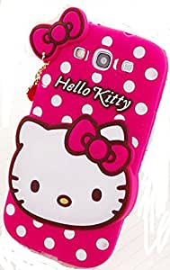 Hello Kitty With Pendant Silicone Back Case Cover For Samsung Galaxy S3 (9300)