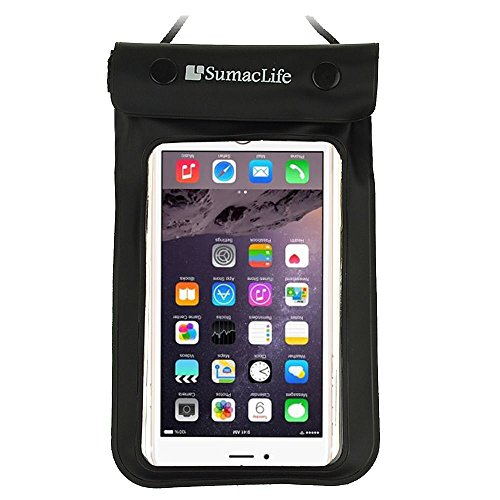 ECCRIS discount duty free For Apple iPhone 6S / 6 Plus Case, Sumaclife Universal Waterproof Cellphone Case bag for 5-5.5 inch Cellphones (Without Case on it) (Black)