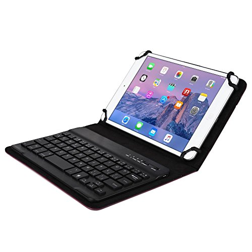 Verizon Ellipsis 7 / 8 Keyboard case, COOPER BACKLIGHT EXECUTIVE Bluetooth Detachable Backlit QWERTY Wireless Keyboard Carrying Case Cover Folio with Stand for Verizon Ellipsis 7 / 8 (Purple) (Bluetooth Touchpad Windows 8 compare prices)