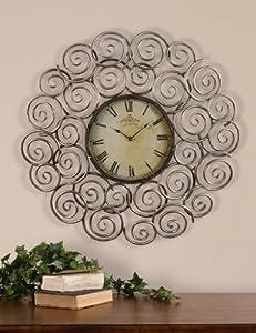 "Uttermost Sassetta 24"" Metal Wall Clock"