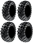 Full set of GBC Grim Reaper Radial (8ply) 25x8-12 and 25x10-12 ATV Tires (4)