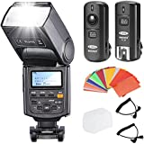 Neewer NW685C E-TTL II *High Speed Sync* 1/8000s HSS LCD Display Speedlite Flash Kit for Canon 5D Mark II/III 7D 30D 40D 50D 60D 400D/XTi 450D/XSi 500D/ T1i 550D/T2i 600D/T3i 650D/T4i 1000D/XS 1100D/T3 DSLR Cameras, includes: (1)Neewer NW685C Flash + (1)3 in 1 2.4Ghz Wireless Flash Trigger + (1)35-piece Color Gel Filters + (1)Deluxe Flash Case + (2)Cables(C1-Cord + C3-Cord)