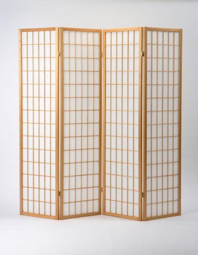 Oriental Shoji Screen Room Divider in Natural