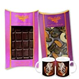 Chocholik Belgium Chocolate Gifts - Bittersweet Combo Of Chocolate Bars With Diwali Special Coffee Mugs - Diwali...