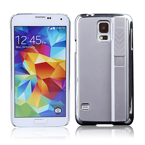 Vakind Rechargeable Electronic Cigarette Lighter Case Cover For Samsung Galaxy S5 (Silver)