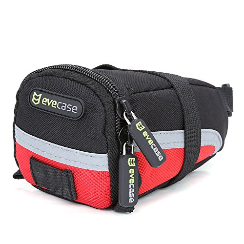 Bike Saddle Bag - Evecase Bicycle Strap-On Under Seat Trail Pouch Bag - Small Slate Post Accessories