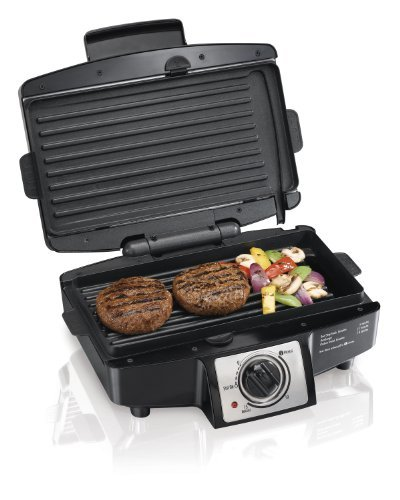 Easy-Clean-Indoor-Grill-w/Removable-Grid