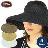 (スカラ)SCALA サンバイザー#LP54 リボン付つば長帽子 [並行輸入品]