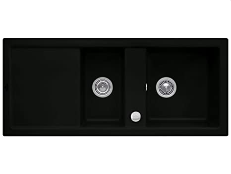 Villeroy & Boch Subway 80 Ebony Black Edition Ceramic Countertop Sink Kitchen Sink