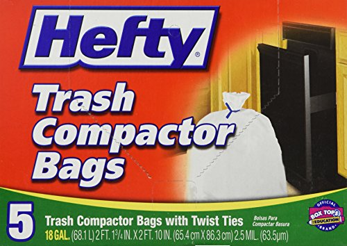 Hefty E2-1218 5 Count Trash Compactor Bags