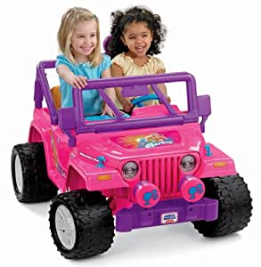 Power Wheels Barbie Jammin Jeep Wrangler